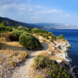 Square landscape. Sea view of Samos, Greece — Stock Photo