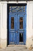 Old blue door — Fotografia Stock