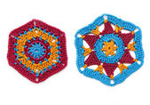 Crocheted hexagonal — Stock Photo