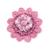 Crochet brooch — Stock Photo