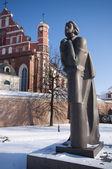 Statue von adam mickiewicz, vilnius, litauen — Stockfoto