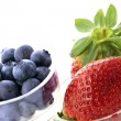Blueberries and strawberries — Stock Photo #8954163