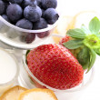 Fresh fruits for breakfast — Stock Photo #8954218