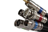 Coaxial Cable connectors — Stock Photo