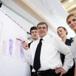 Senior business man giving a presentation — Stock Photo #10003448
