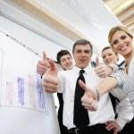 Senior business man giving a presentation — Stock Photo #10003452