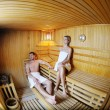 Happy young couple in sauna — Stock Photo #10006766