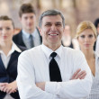 Stock Photo: Business group on seminar
