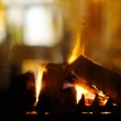 Fireplace flame background — Stock Photo