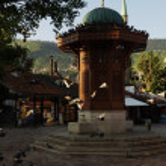 Sarajevo city in bosnia — Stock Photo