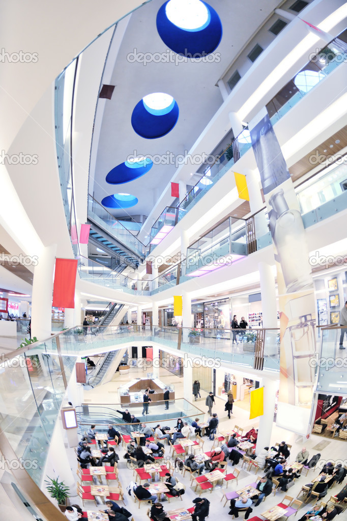 Interior of a modern shopping mall center — Stock Photo #10049004