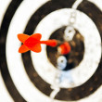 Dart target business concept — Stock Photo