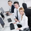 Business group working in customer and help desk office — Stock Photo