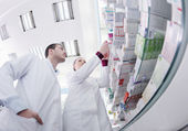 Pharmacy drugstore team — Stock Photo