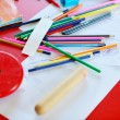 Child education colorful pencil background — Stock Photo #10613982