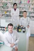 Squadra farmacia farmacia — Foto Stock