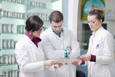 Pharmacy drugstore team — Stock Photo