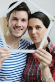 Young couple moving in new house — Foto de Stock