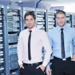 It enineers in network server room — Stock Photo #7965093