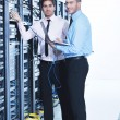 It enineers in network server room — Stock Photo #7965103