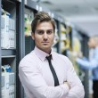 It enineers in network server room — Stock Photo #7965121