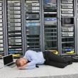 Royalty-Free Stock Photo: System fail situation in network server room