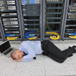 System fail situation in network server room — Stock Photo #8338428