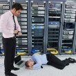 System fail situation in network server room — Stock Photo #8338537