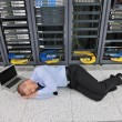 System fail situation in network server room — Stock Photo #8338545