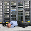 System fail situation in network server room — Stock Photo #8338554