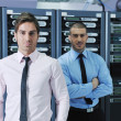 It enineers in network server room — Stock Photo #8338639