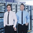 Stock Photo: It enineers in network server room