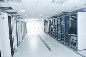 Salle de serveurs réseau — Photo