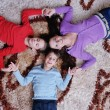 Stock fotografie: Happy young family have fun at home