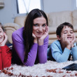 Happy young family have fun at home — Stock Photo #8491484