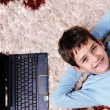 Happy boy at home relax — Stock Photo