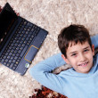 Happy boy at home relax — Stock Photo #8491825