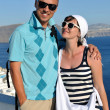 Happy young couple tourists in greece — Stock Photo #8492803