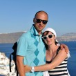 Happy young couple tourists in greece — Stock Photo #8492813