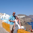 Happy young couple tourists in greece — Stock Photo #8492907