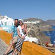 Happy young couple tourists in greece — Stock Photo #8492923