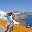 Happy young couple tourists in greece — Stock Photo #8492924