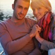 Couple in love have romantic time on boat — Stock Photo #8493018
