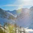 High mountains under snow in the winter — Stock Photo #8993206