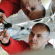 Male solar panel engineer at work place — Stock Photo #8993642