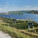 Solar panel renewable energy field — Stock Photo #8994705