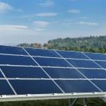 Solar panel renewable energy field — Stock Photo #8994724