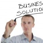 Business man draw cloud computing chart — Stock Photo #9108664