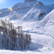 High mountains under snow in the winter — Stockfoto #9219112