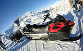 Snow sledge mobile — Stock Photo
